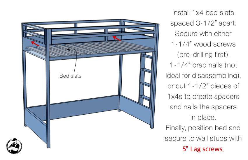 DIY Twin Loft Bed Plans Step 7