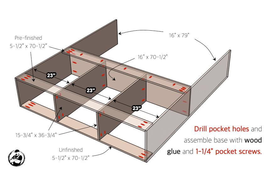 DIY Entertainment Console Plans Step 1