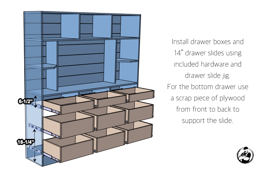 DIY Entertainment Console Plans Step 6