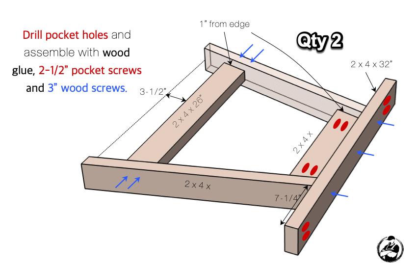 DIY Shuffleboard Table Plans Step 1