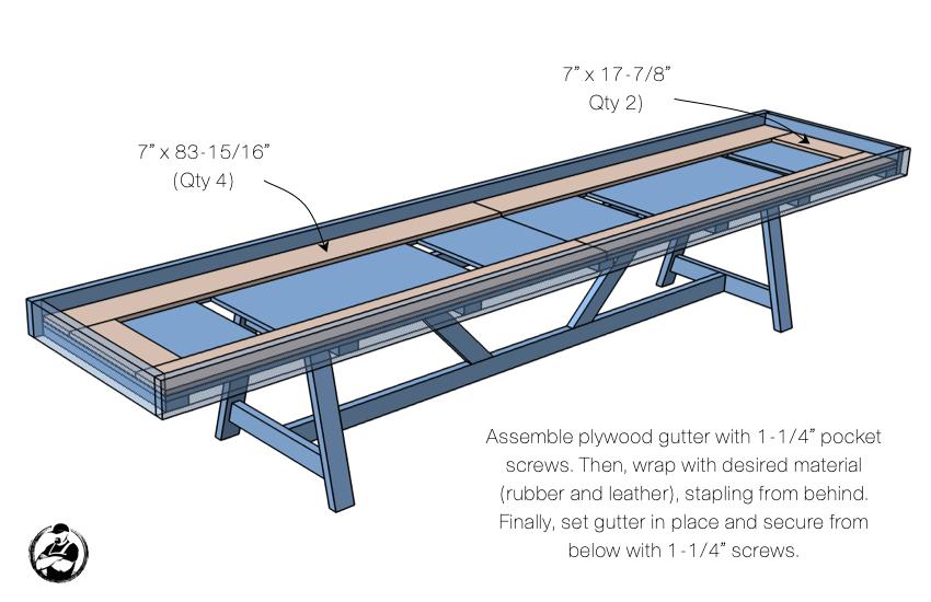 DIY Shuffleboard Table Plans Step 5