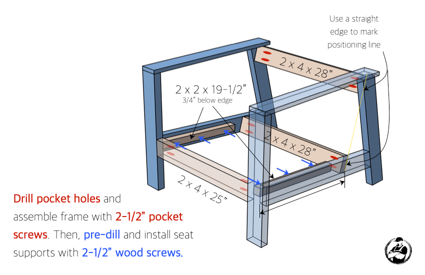 DIY Outdoor Club Chair Plans Step 2