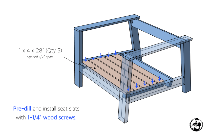 DIY Outdoor Club Chair Plans Step 3