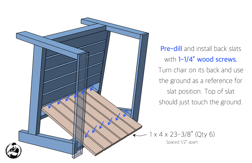 DIY Outdoor Club Chair Plans Step 4