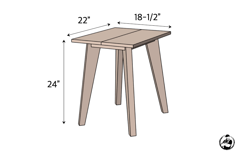 DIY Side Table Plans Dimensions