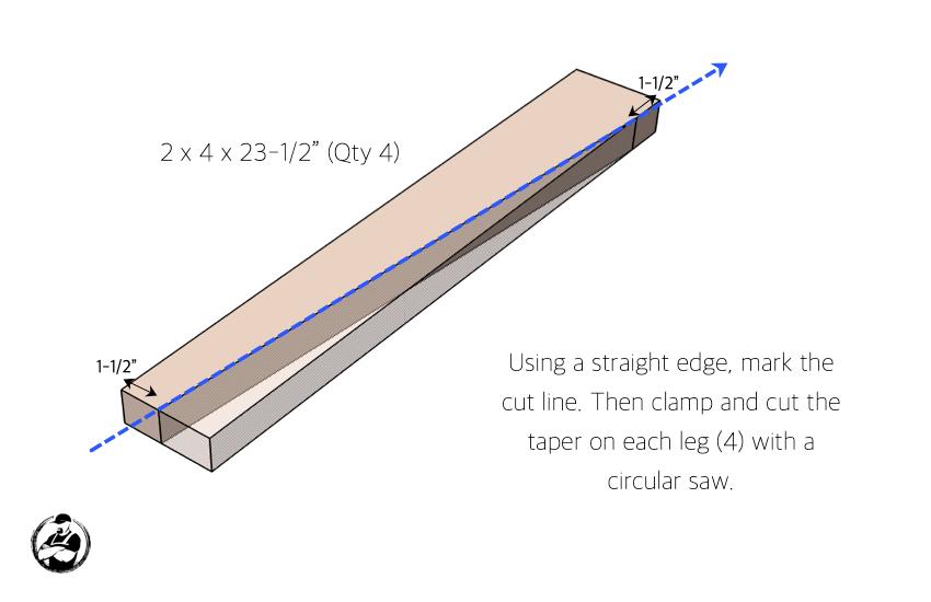 DIY Side Table Plans Step 1