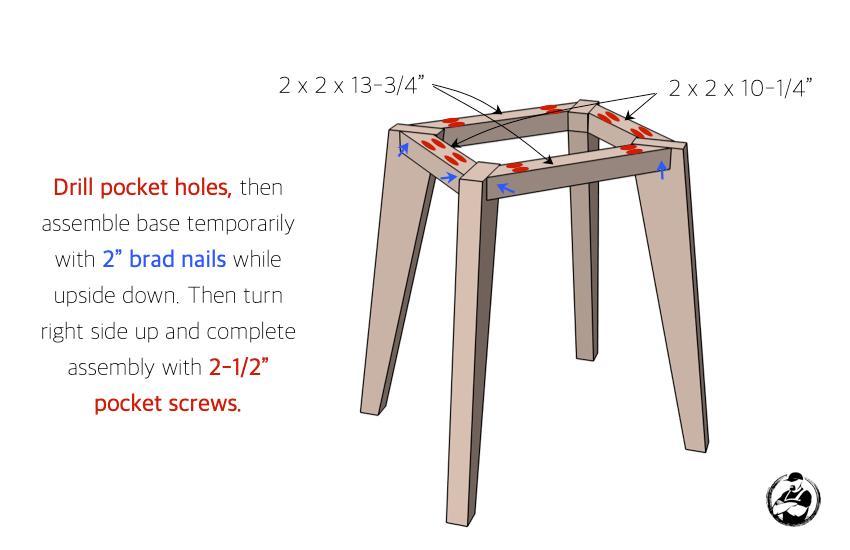 DIY Side Table Plans Step 2