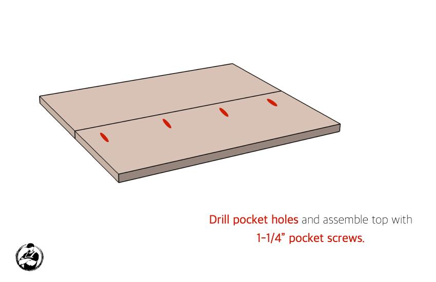 DIY Side Table Plans Step 3