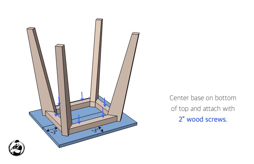 DIY Side Table Plans Step 4
