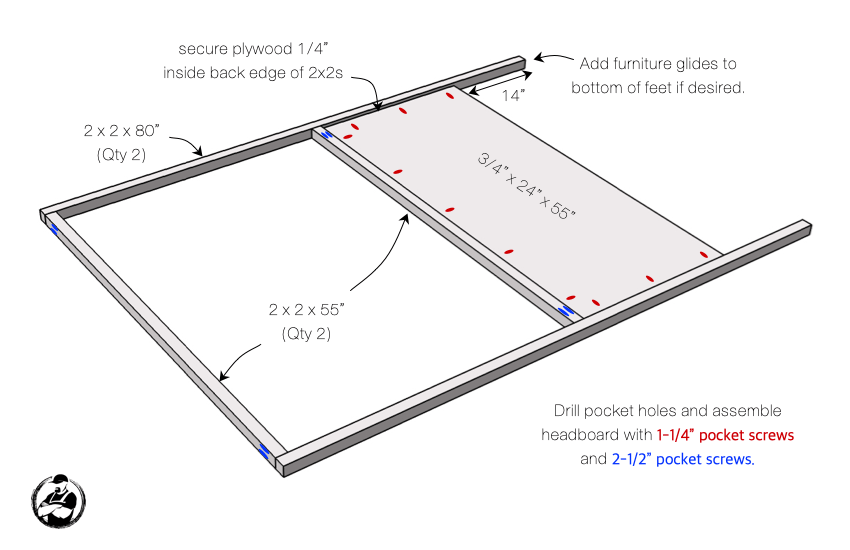 DIY Full Canopy Bed Plans Step 2