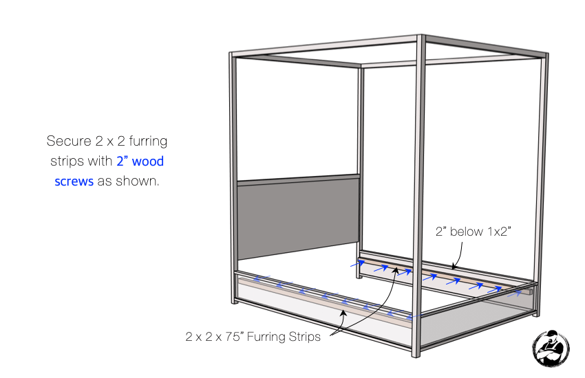 DIY Full Canopy Bed Plans Step 5