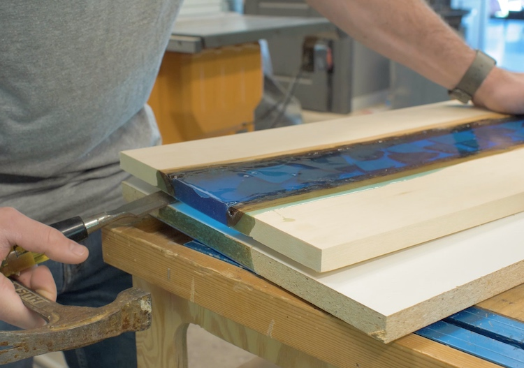 Epoxy River Serving Tray Step 10