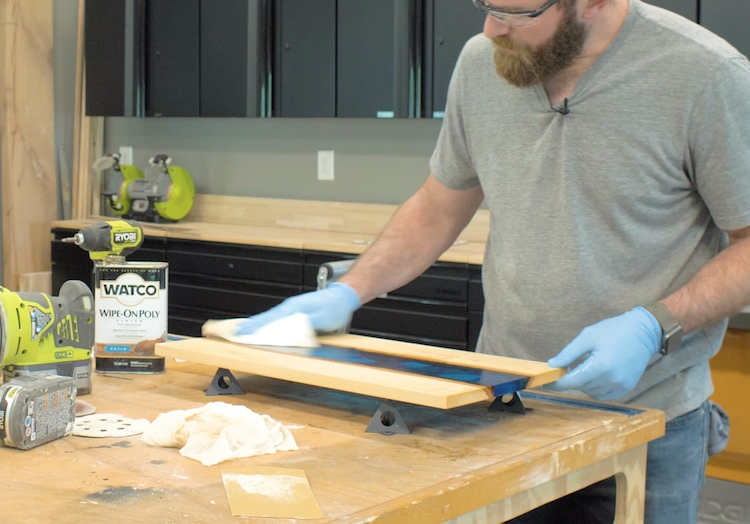 Epoxy River Serving Tray Step 18