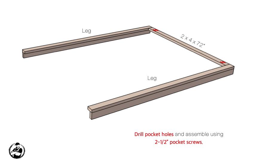DIY Buit In Bunk Bed Step 2