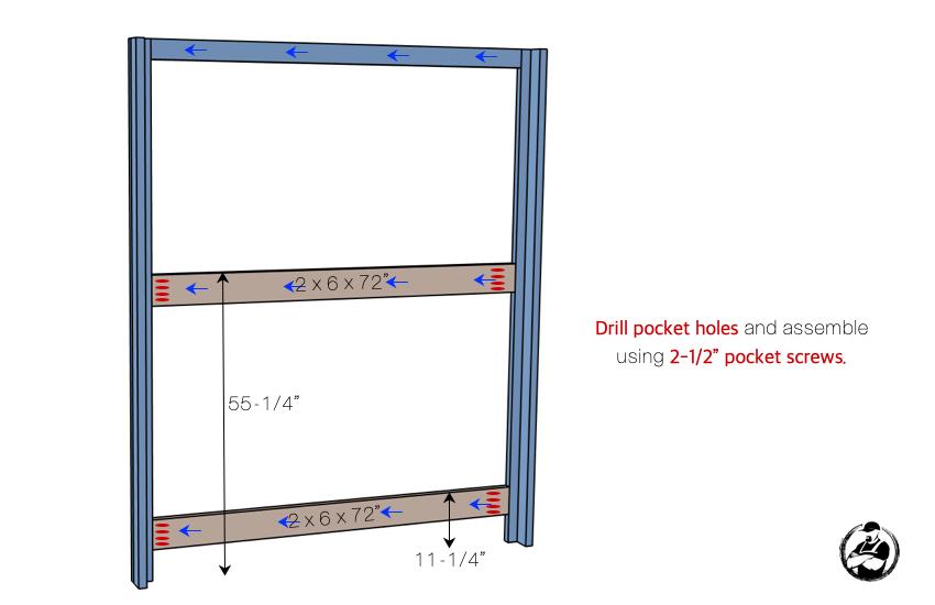 DIY Buit In Bunk Bed Step 3