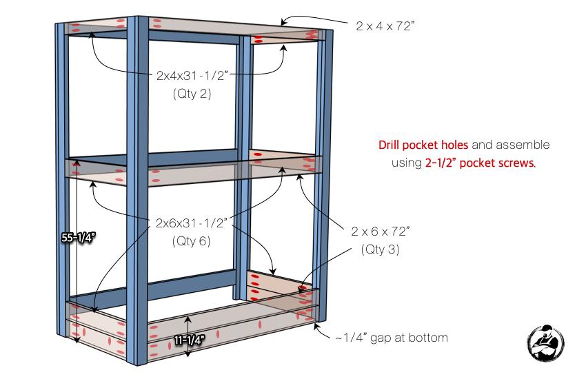 DIY Buit In Bunk Bed Step 4