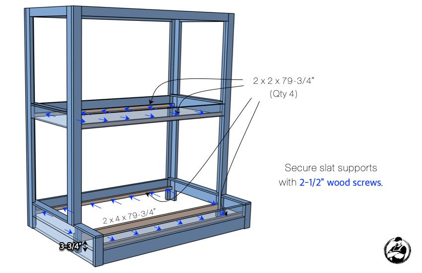 DIY Buit In Bunk Bed Step 5 1