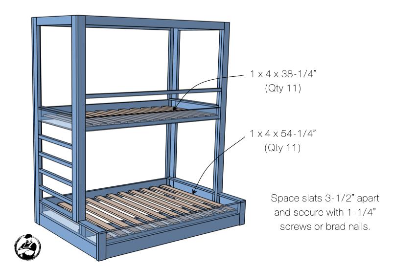 DIY Buit In Bunk Bed Step 7 1