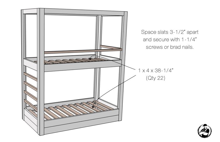 DIY Buit In Bunk Bed Step 7