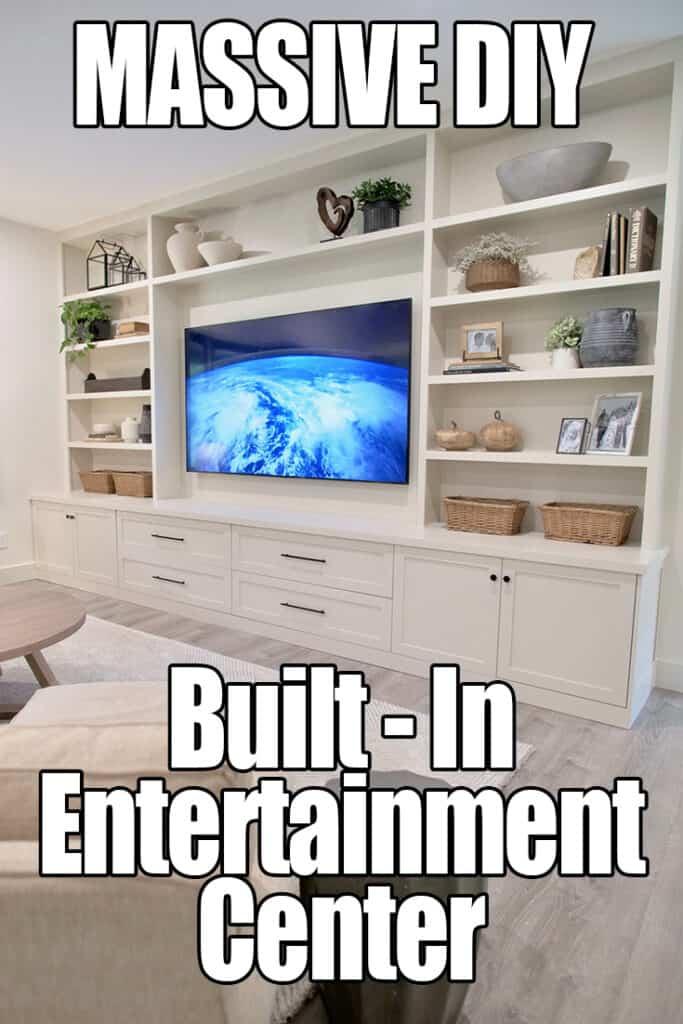 DIY Built In Entertainment Center Plans PIN ME