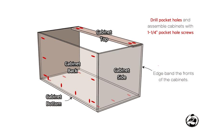 DIY Built In Media Center Plans Step 1