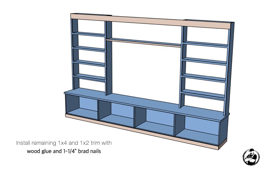 DIY Built In Media Center Plans Step 10