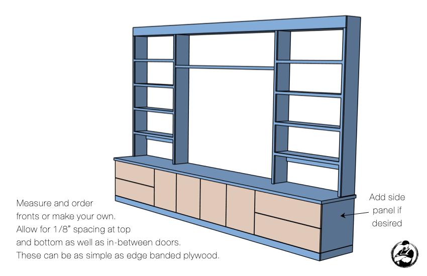DIY Built In Media Center Plans Step 12