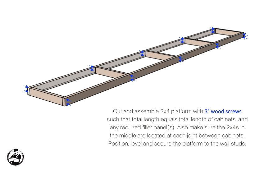 DIY Built In Media Center Plans Step 3