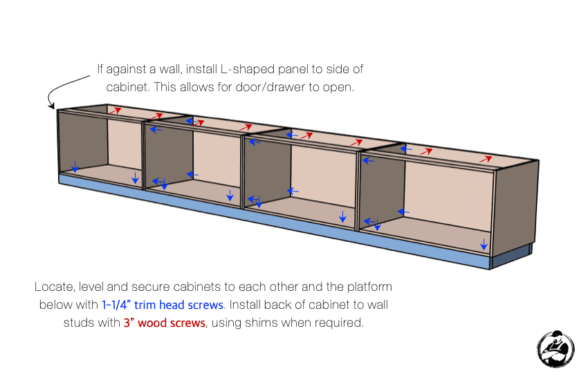 DIY Built In Media Center Plans Step 4