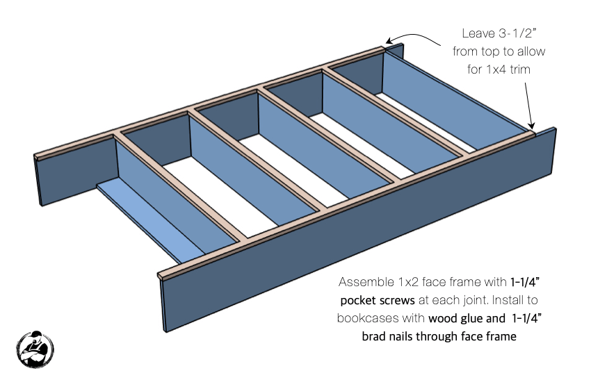 DIY Built In Media Center Plans Step 7