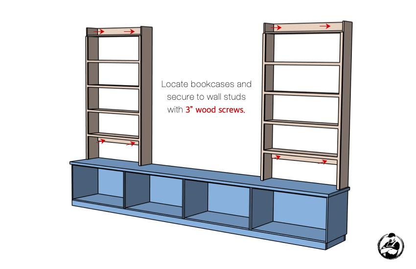DIY Built In Media Center Plans Step 8