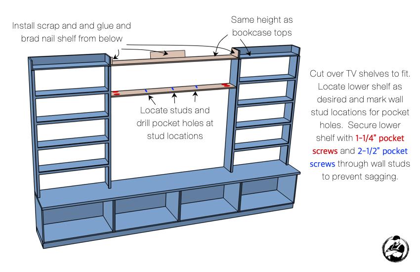 DIY Built In Media Center Plans Step 9