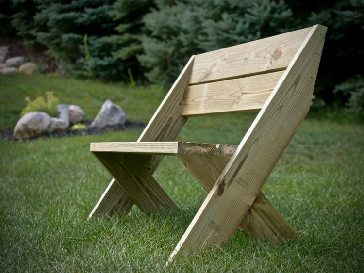 DIY Outdoor Bench with Back Plans Rogue Engineer 1