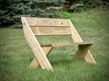 DIY Outdoor Bench with Back Plans Rogue Engineer 2