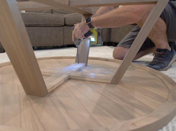 DIY Round Coffee Table 10