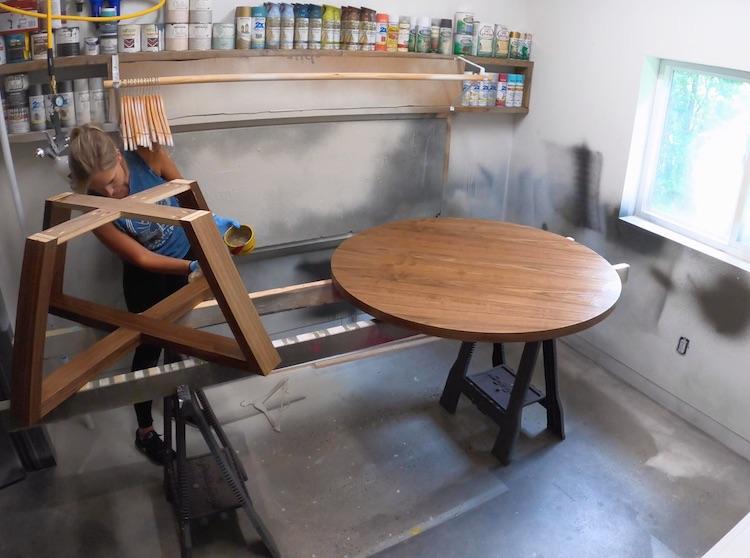DIY Round Coffee Table 11