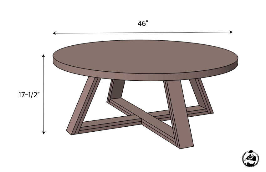 DIY Round Coffee Table Plans Dimensions
