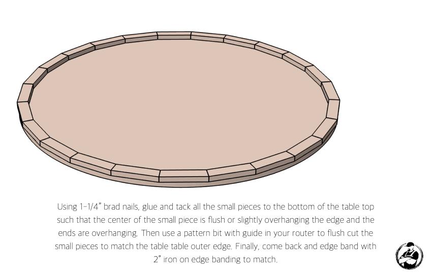 DIY Round Coffee Table Plans Step 1